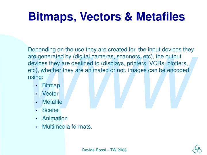 Bitmaps, Vectors & Metafiles