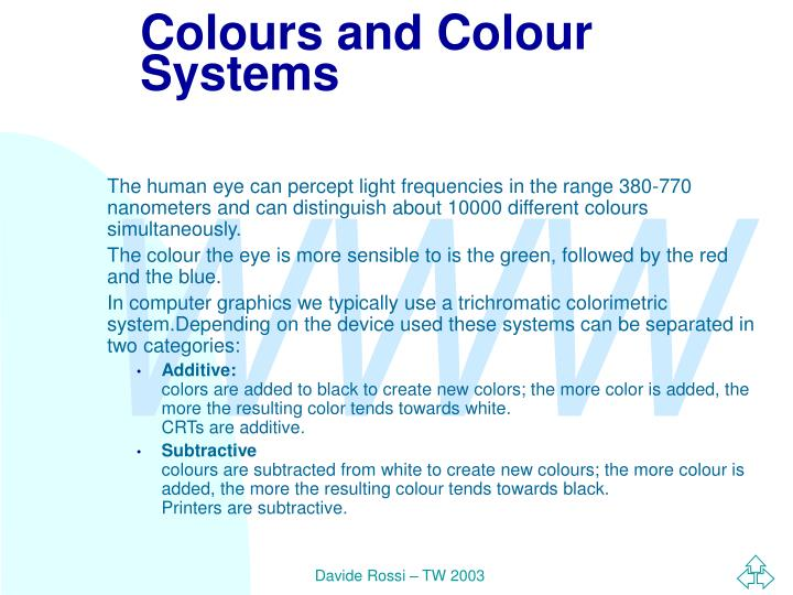 Colours and Colour Systems