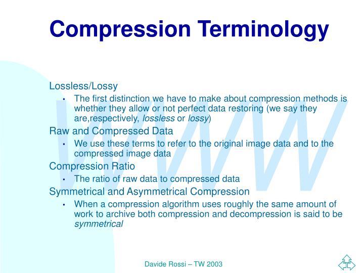 Compression Terminology