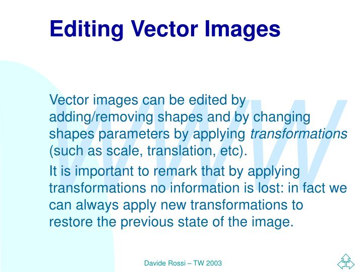 Editing Vector Images