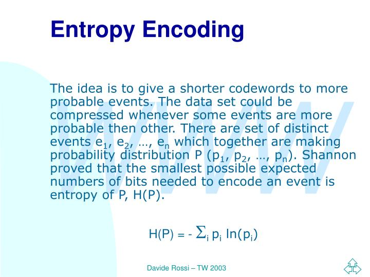 Entropy Encoding