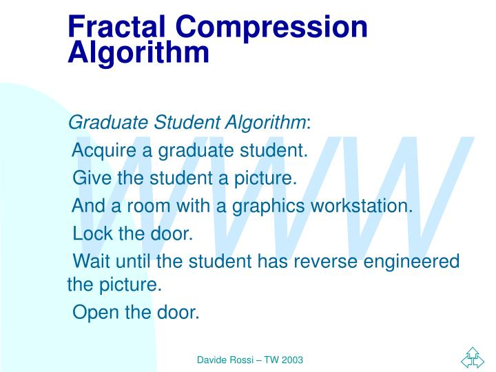 Fractal Compression Algorithm