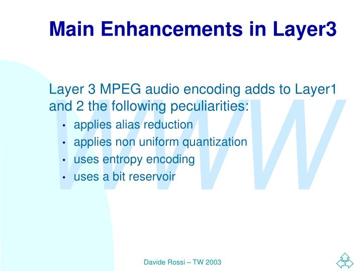Main Enhancements in Layer3