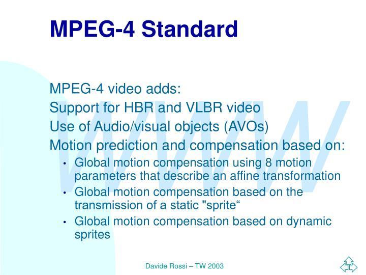 MPEG-4 Standard