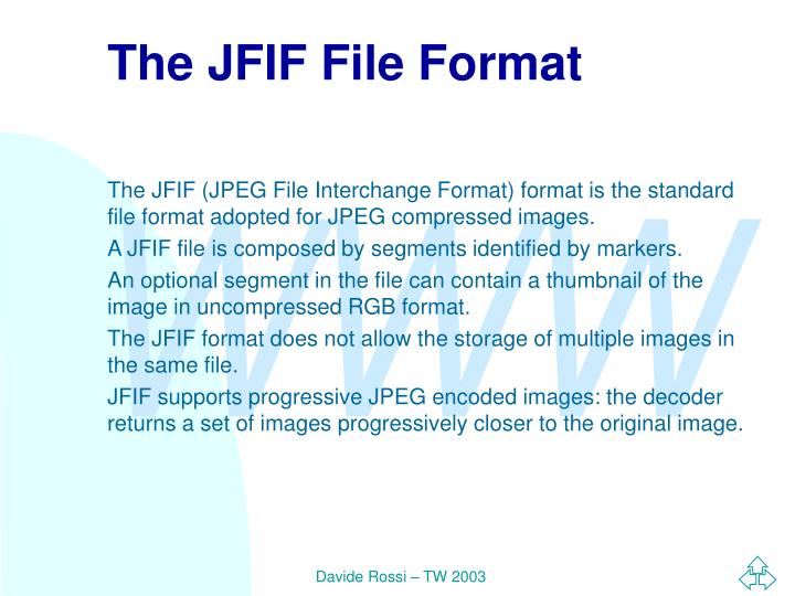 The JFIF File Format