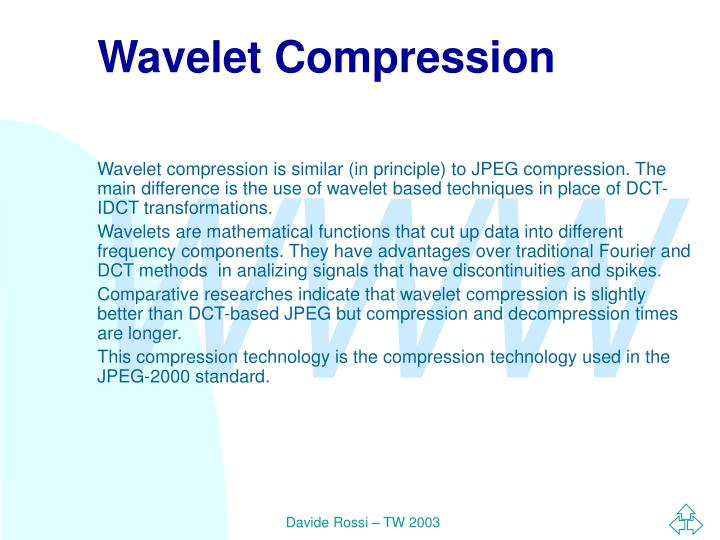 Wavelet Compression