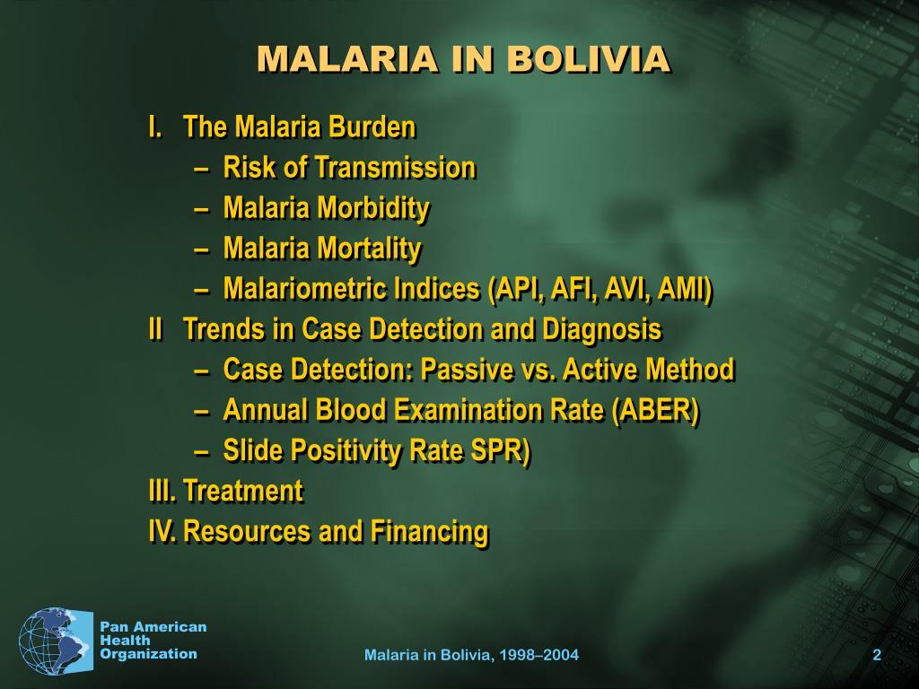 MALARIA IN BOLIVIA
