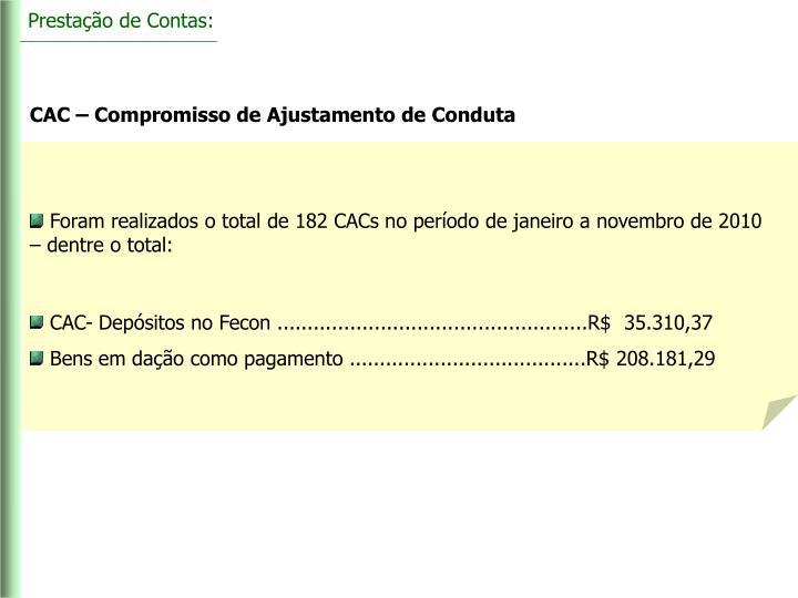 Prestação de Contas: