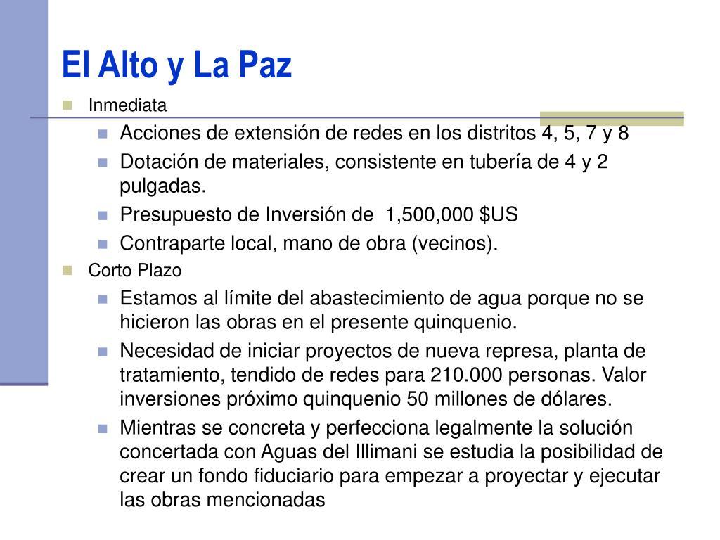 El Alto y La Paz