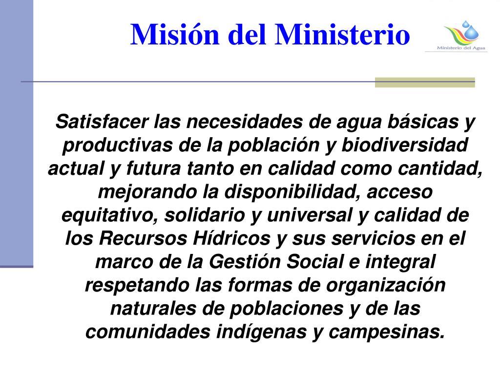 Misión del Ministerio
