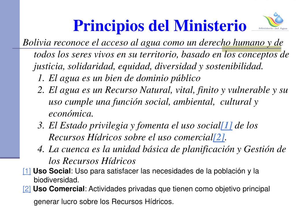 Principios del Ministerio