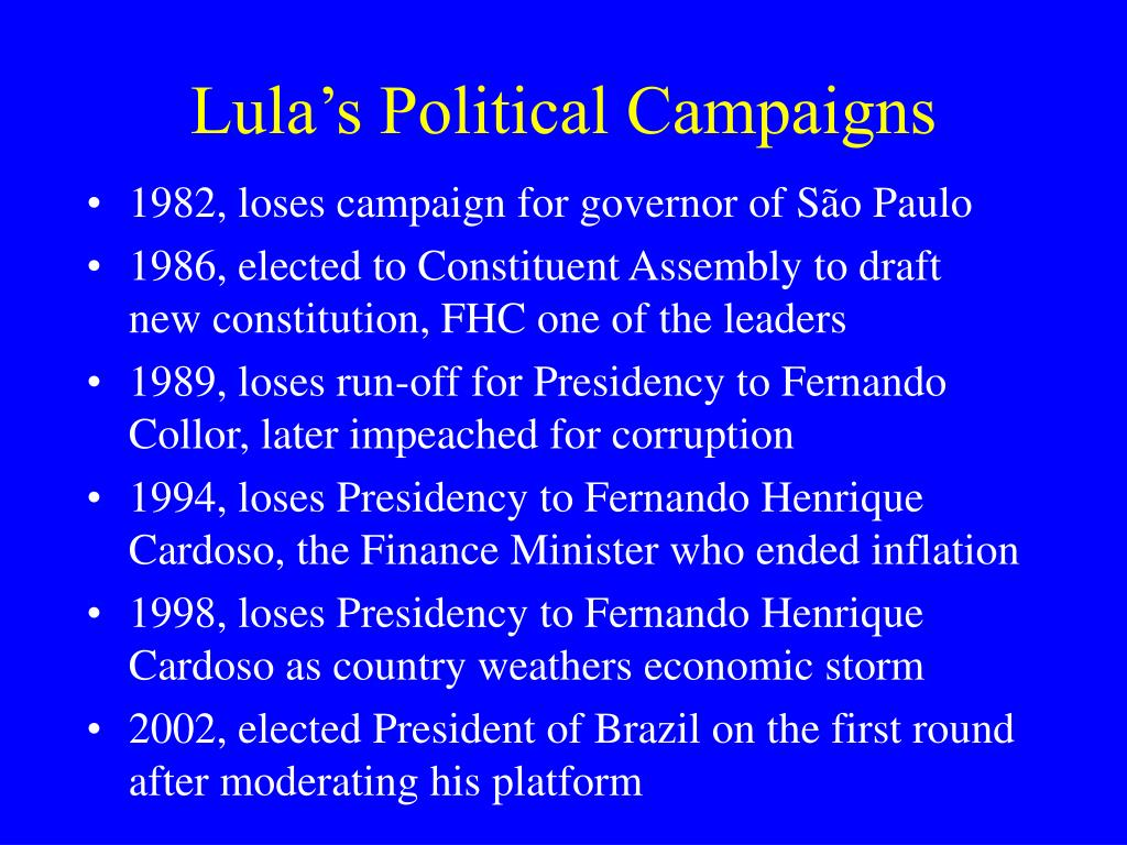 Lula's Political Campaigns