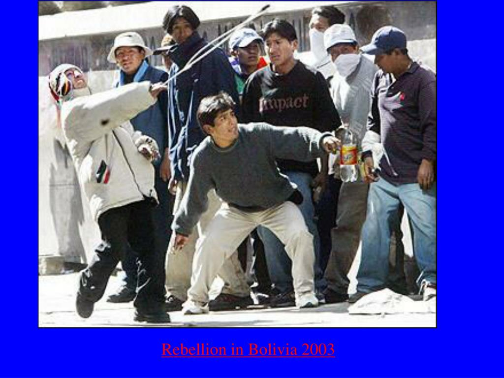 Rebellion in Bolivia 2003