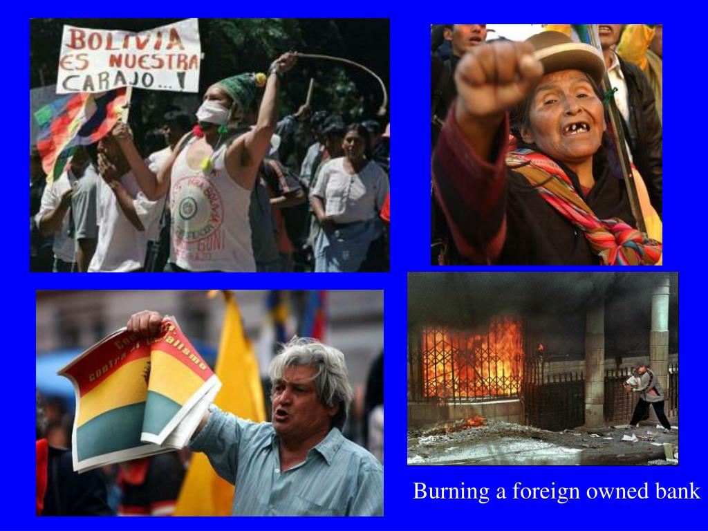 Burning a foreign owned bank