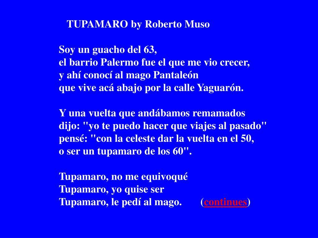 TUPAMARO by Roberto Muso