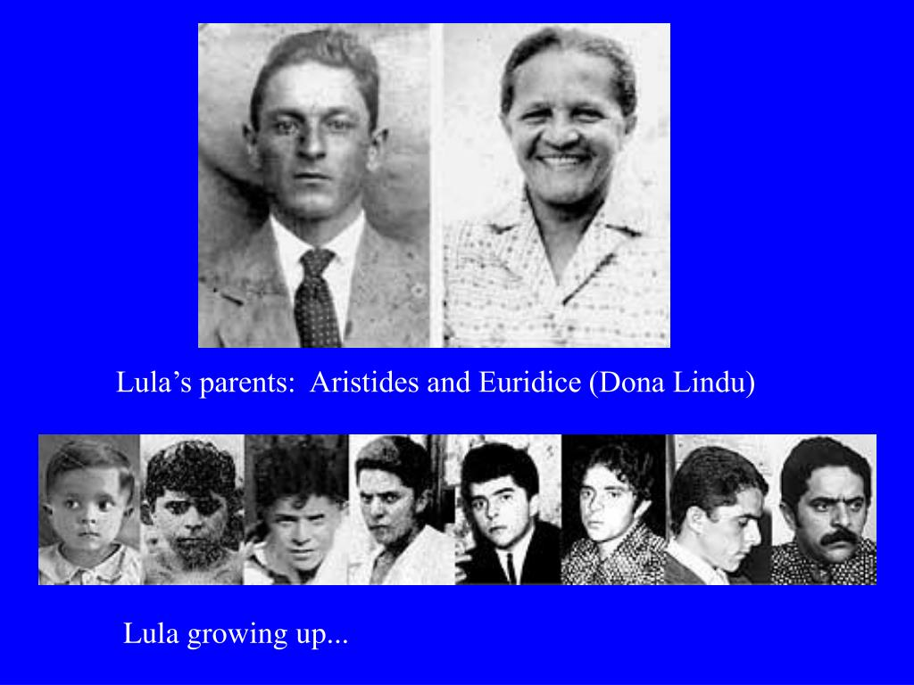 Lula's parents:  Aristides and Euridice (Dona Lindu)