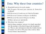 data why these four countries