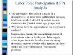 labor force participation lfp analysis