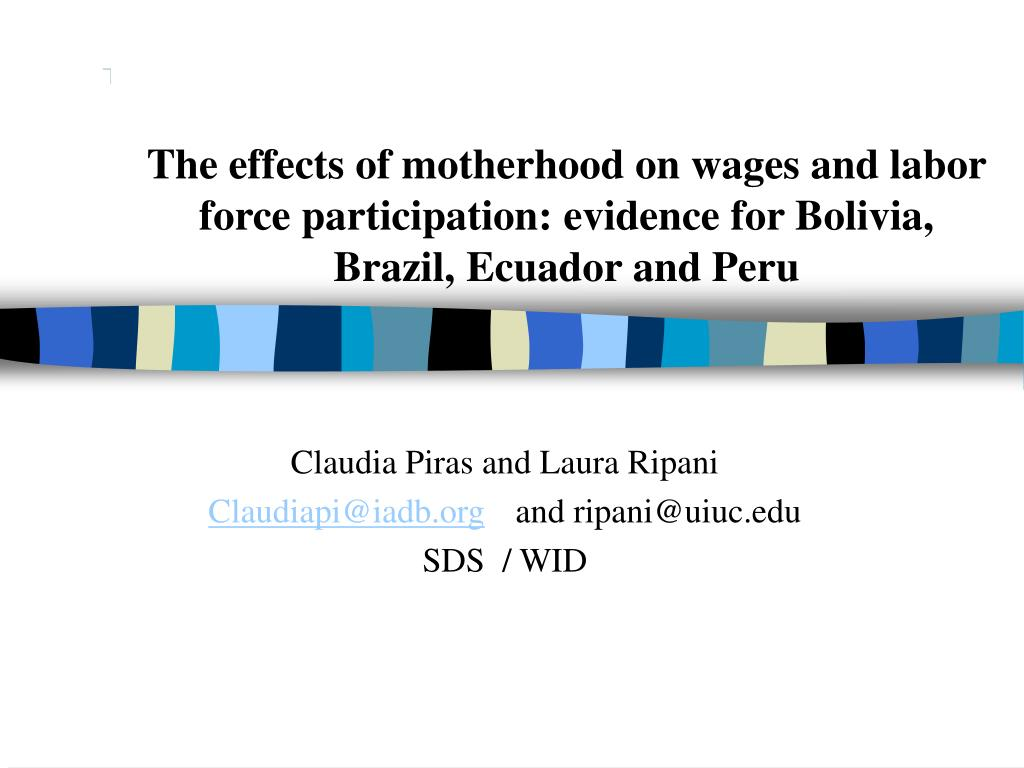 The effects of motherhood on wages and labor force participation: evidence for Bolivia, Brazil, Ecuador and Peru