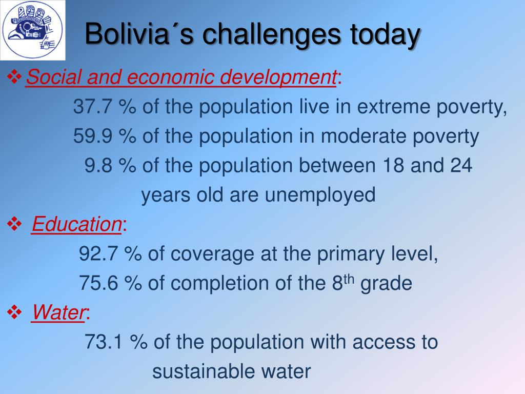 Bolivia´s challenges today