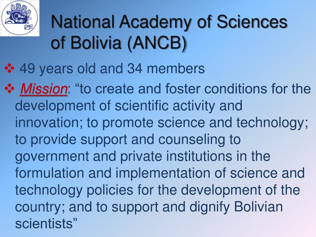 National Academy of Sciences of Bolivia (ANCB)