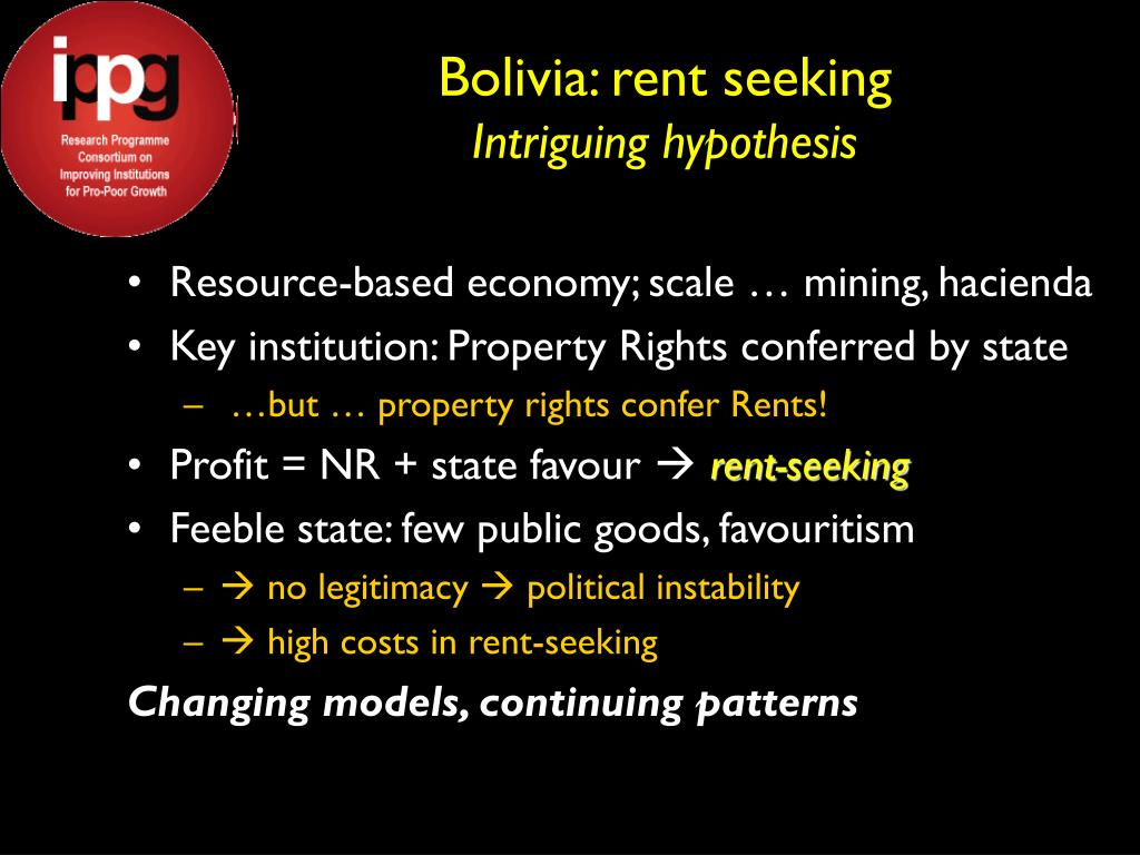 Bolivia: rent seeking