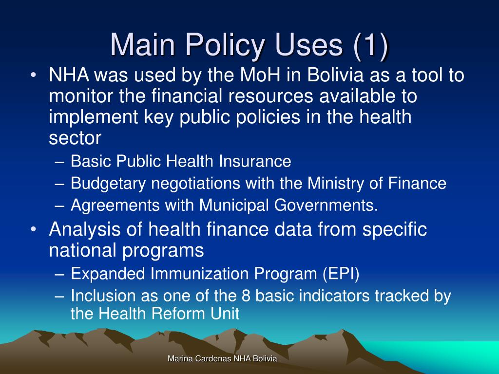 Main Policy Uses (1)