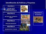 identificaci n de pol ticas y proyectos