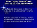 marco legal y normativo en favor de las y los adolescentes20