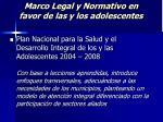 marco legal y normativo en favor de las y los adolescentes23