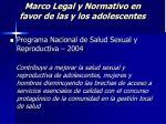 marco legal y normativo en favor de las y los adolescentes24