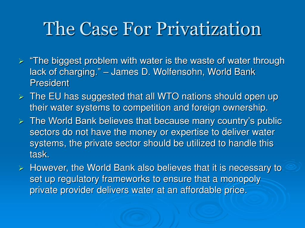The Case For Privatization