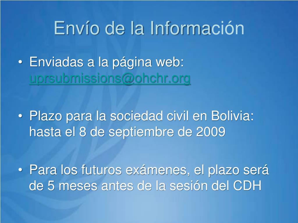 Envío de la Informa