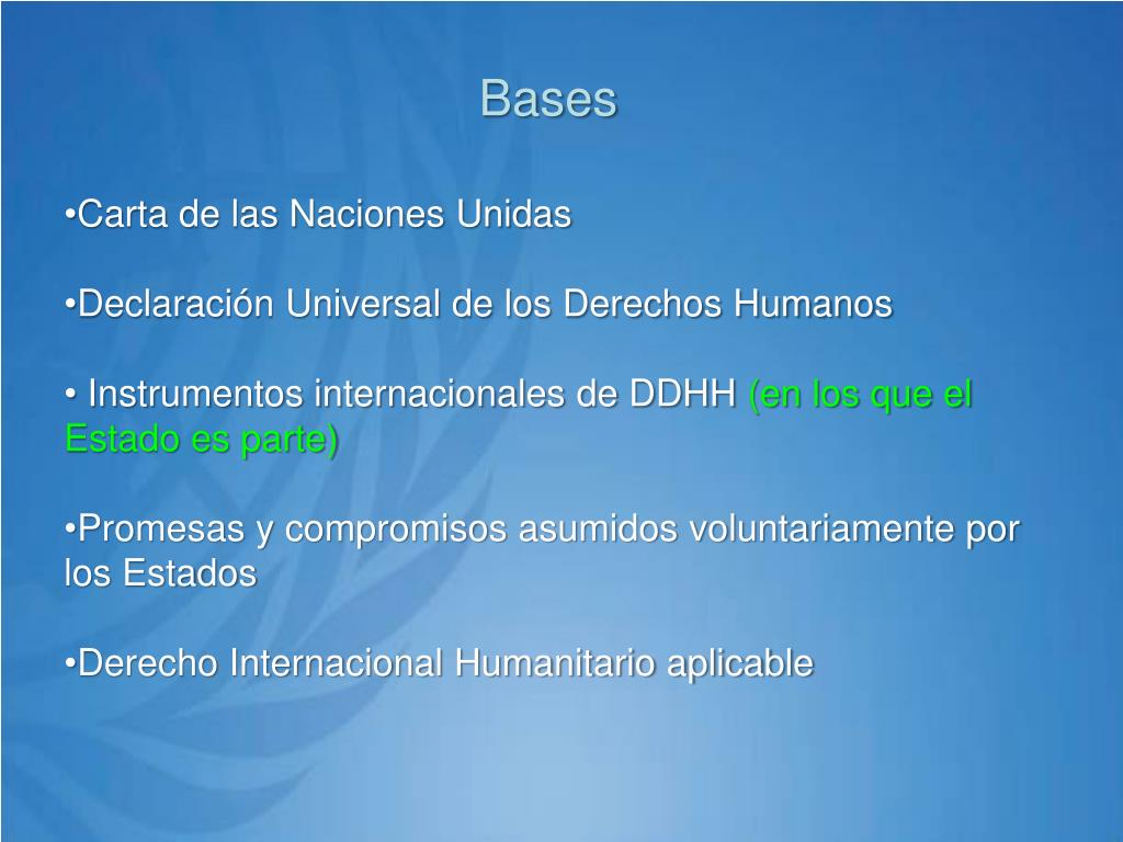 Bases