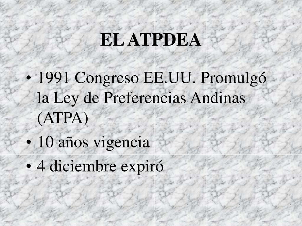 EL ATPDEA