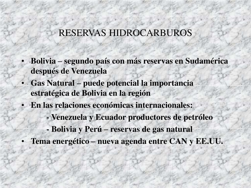 RESERVAS HIDROCARBUROS