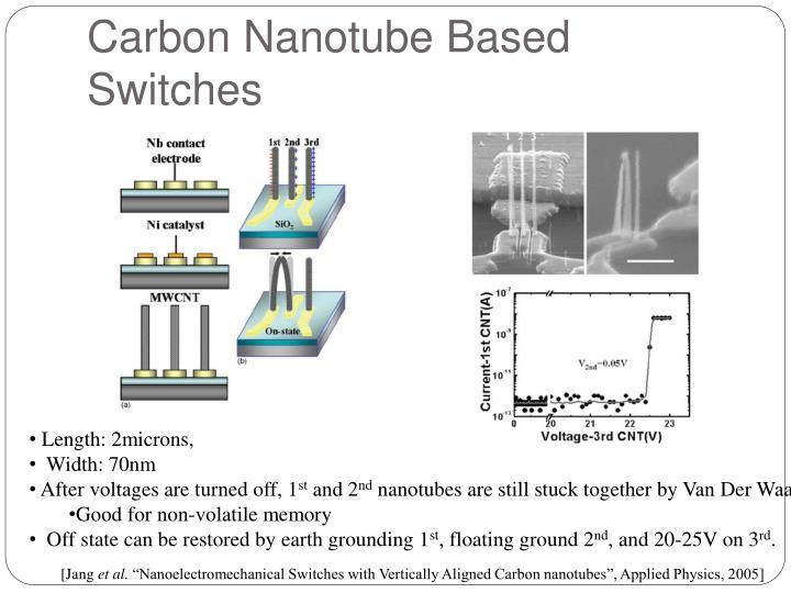 Carbon Nanotube Based Switches