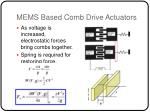 mems based comb drive actuators