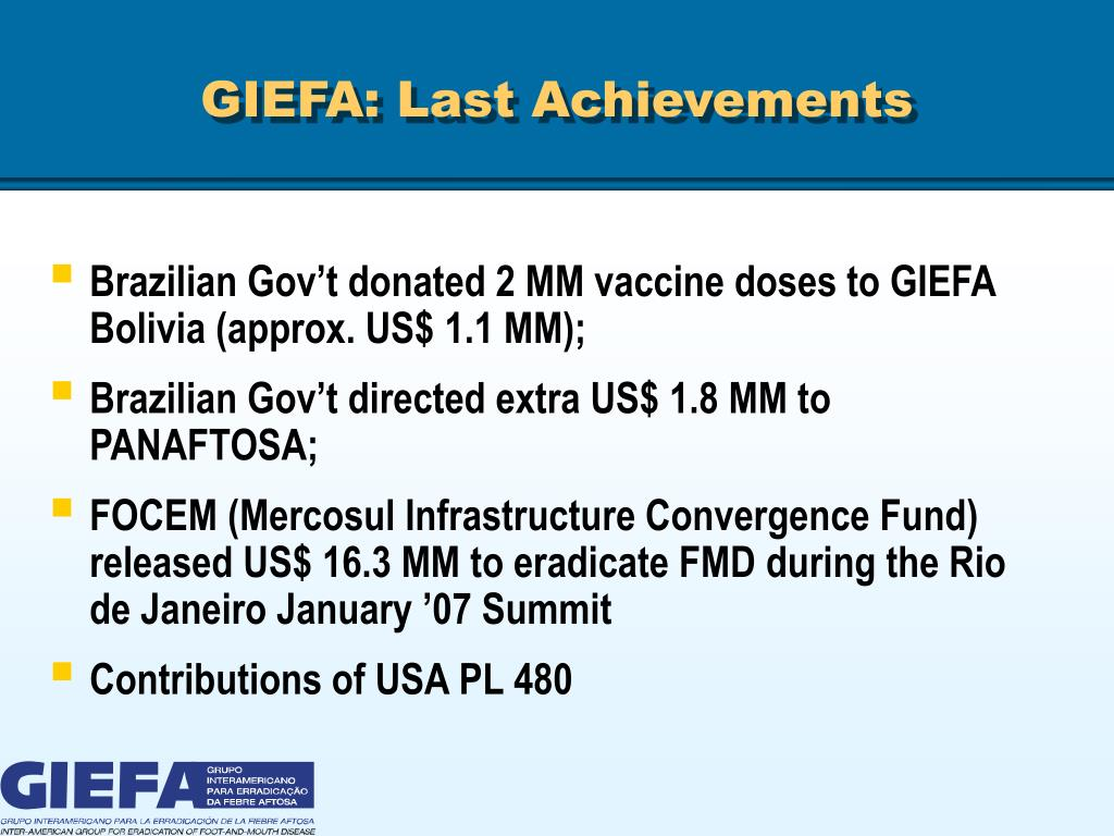 GIEFA: Last Achievements