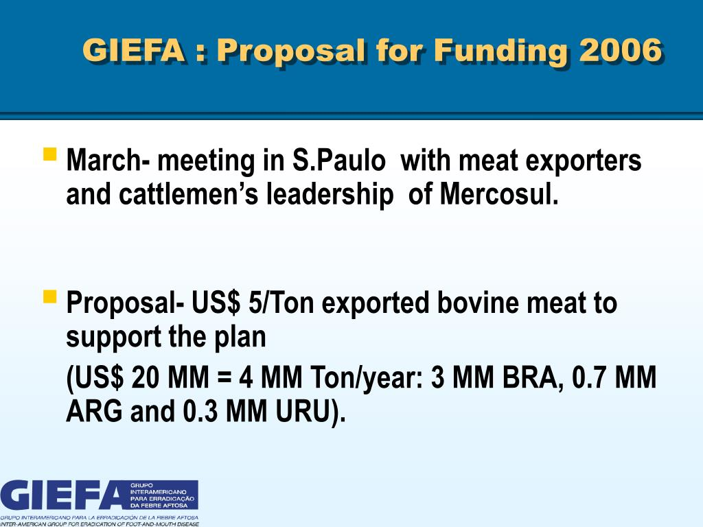 GIEFA : Proposal for Funding 2006