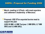 giefa proposal for funding 2006