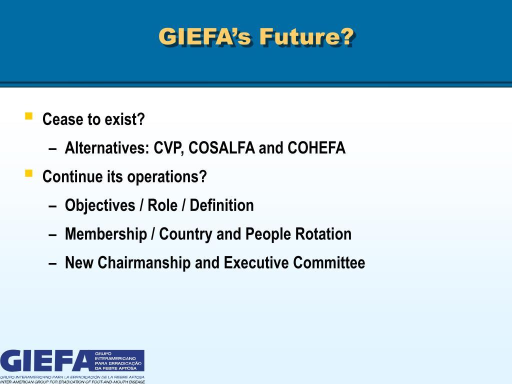 GIEFA's Future?