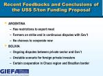 recent feedbacks and conclusions of the us 5 ton funding proposal