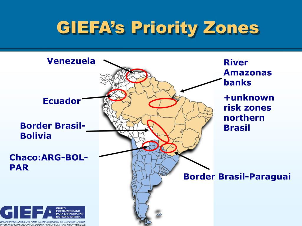 GIEFA's Priority Zones