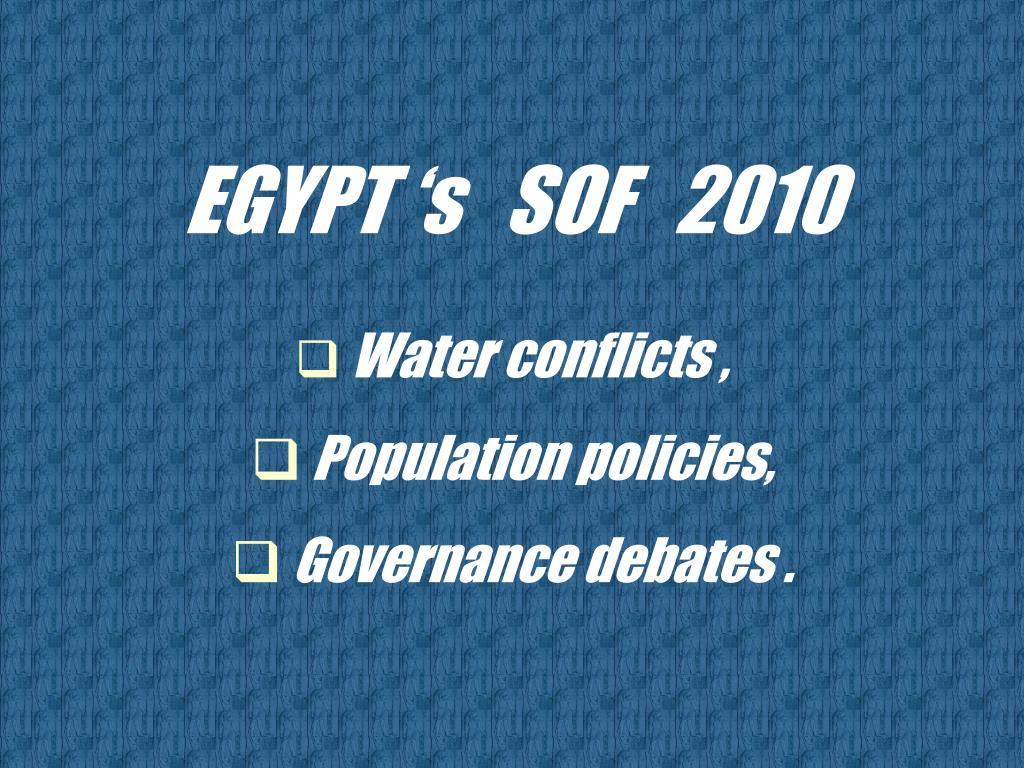 EGYPT 's   SOF   2010