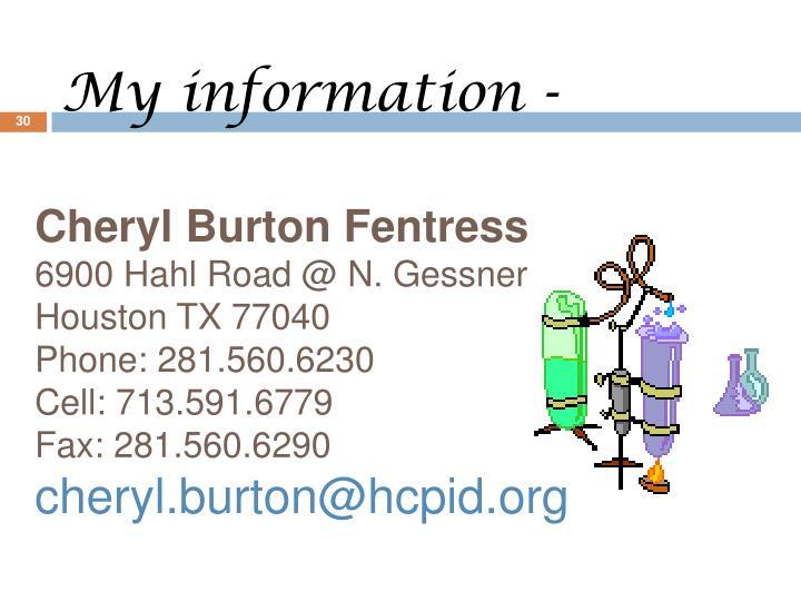 Cheryl Burton Fentress