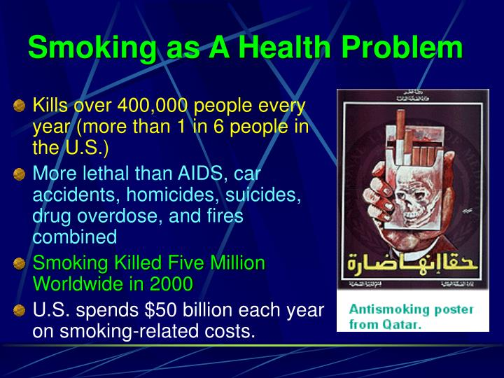 Smoking as a health problem l.jpg