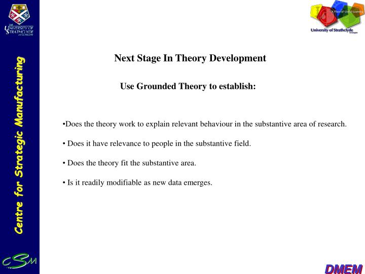 Next Stage In Theory Development