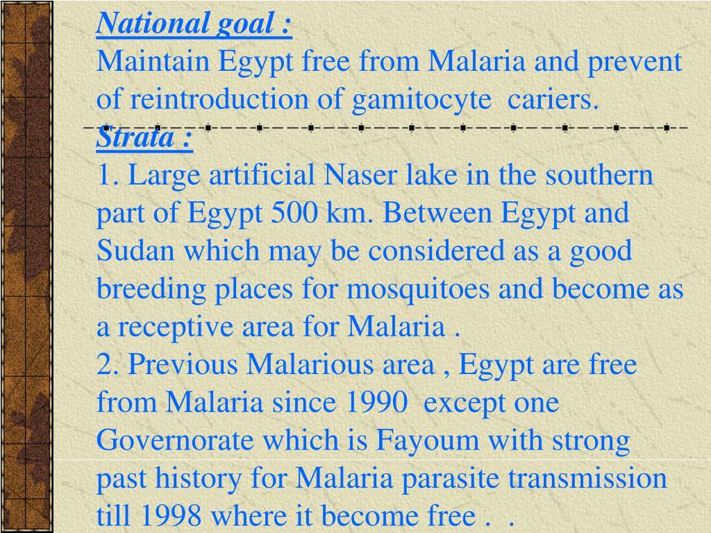National goal :