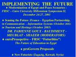 implementing the future